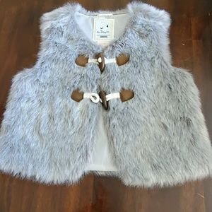 Gymboree girls faux fur vest